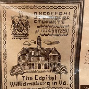 Stamped Cross Stitch The Capitol Williamsburg NEW
